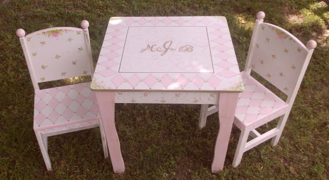 & Childrens Table and Chair Set Tea Party Kids Table Chairs Playhouse