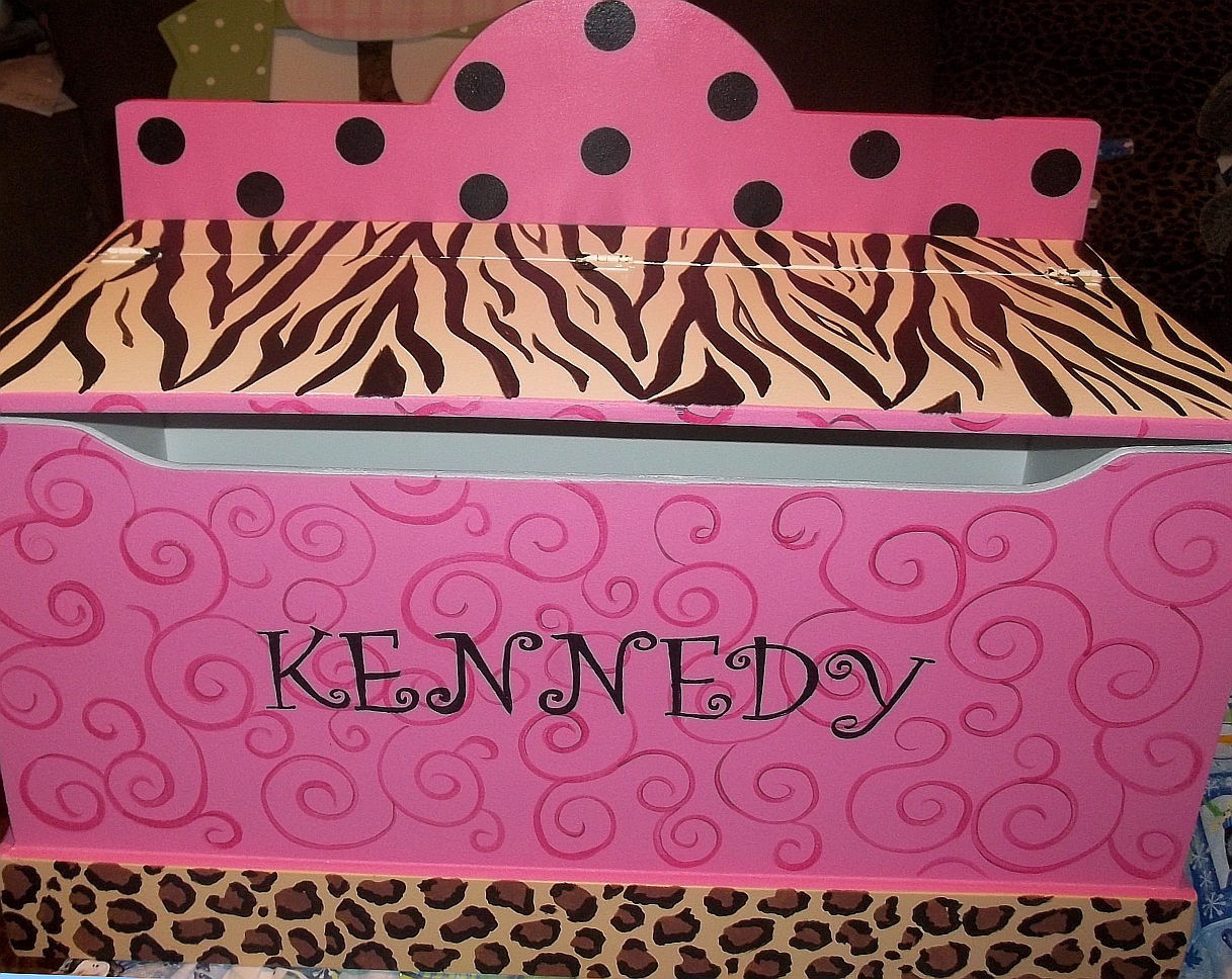 Hand Painted Zebra Decor Childrens Furniture Toyboxes And Toy Chest